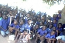 Distribution of 252 dictionaries at a school in Mthumba Village.